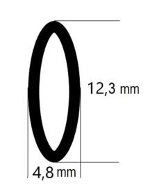 baleinen Transparant ovaal 170 cm