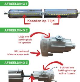 Assembleren vouwgordijnsysteem Deluxe