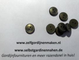 30 kunststof knopen groen/grijs parelmoer 12mm