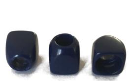 Knoop kunststof blauw 10 mm