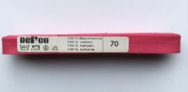 Biaisband roze 12 mm katoen - kleur 70