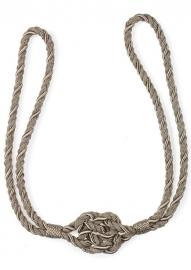 embrasse koord 65 cm met knoop MAT grijs
