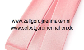 Biaisband roze- 30 mm breed