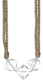 Raffhalter kordel mit Perlen Hellbraun - 65cm