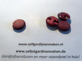 5  kunststof knopen bordeaux rood  20mm