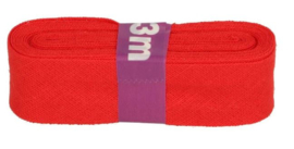 Dox Biaisband rood 12 mm katoen kl 722