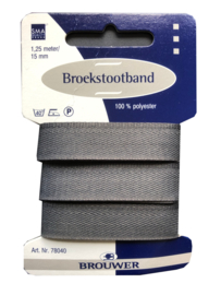 Hosenschonerband 15mm , Hell grau oder Dunkel Grau