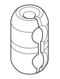 Ketting verbinder transparant Child Safe VOOR KETTING METAAL