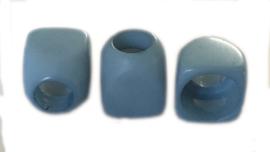 Knoop kunststof licht blauw 10 mm