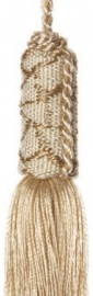 Schlüsselquaste hell beige 19 cm