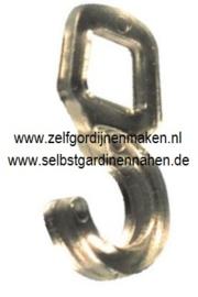 Quer-Ösenhaken für Ringe 10 mm Transparent