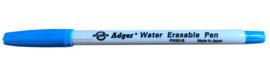 Markeerstift blauw, verwijderbaar met water