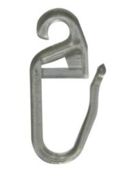 Quer-Ösenhaken für Flache Ringe 2 mm Transparent