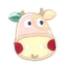 Applicatie koe roze/ groen