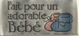 """Label """"Fait pour un adorable Bébé """""""