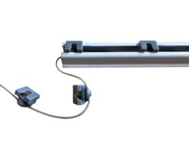 Ripplefold glijder / houder grijs