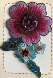 Applicatie bloem met kralen