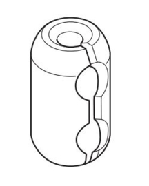 Ketting verbinder transparant Child Safe voor KETTING KUNSTSTOF