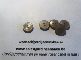 24 kunststof knopen licht grijs 15mm