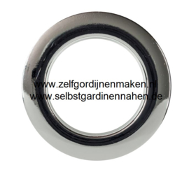 """KLIK""zeilring  chroom 55/80mm"