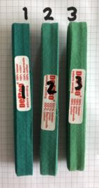 Biaisband groen 12 mm katoen