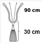 Raffhalter Castello creme 90cm