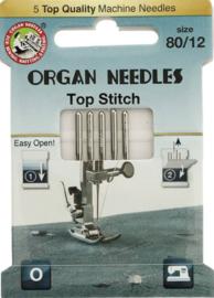 ORGAN NEEDLES ECO-PACK TOP STITCH 5 NAALDEN 80-12