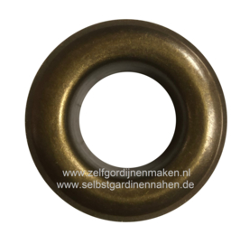 Zeilring rond 25 mm Oud Goud