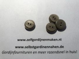 20 kunststof knopen brons/grijs 15mm