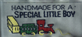 "Label ""Made for a special Little boy"""