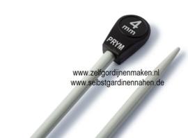 Jackenstricknadeln, Aluminium, 40cm, 4,00mm, grau