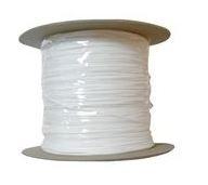 Aufzugschnur weiß 0,8 mm  silikonisiert pro Meter