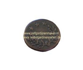 Patentknöpfe 17 mm Silberfarbig / Bronze pro Stück