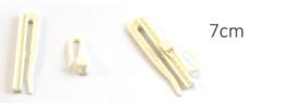 inschuifhaak creme verstelbaar 7  cm, 1 stuk