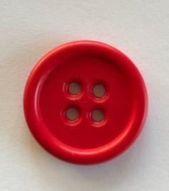 Knoop kunststof rood 26 mm