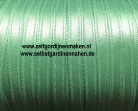 Satijnband 6 mm breed licht GROEN per meter