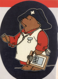 Aufbügelbar applikation Bär Paddington Doktor