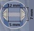 Paddenstoel prikker per stuk