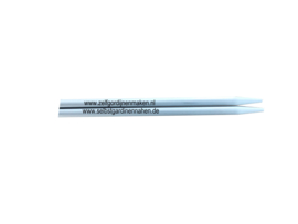 Inox Strumpfstricknadeln, 40cm, 5mm, perlgrau