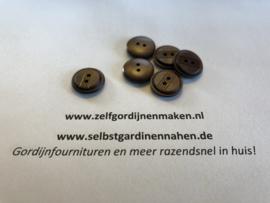 46 kunststof knopen bruin 15mm