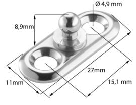 Loxx bevestiger Nikkel met ovale plaat + gereedschap