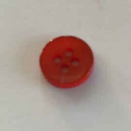 Knoop kunststof rood 11 mm