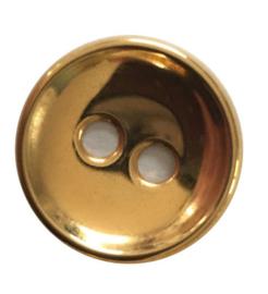 Knoop metaal goudkleurig 18 mm