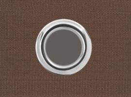 Ösenband Braun 6 cm