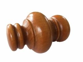 Endknopf Barock für 28 mm Stange Natur