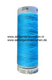 Polyester garen Hemels Blauw 200m