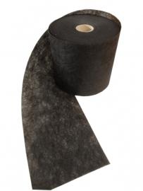 Vlies Band Zwart extra breed 20 cm