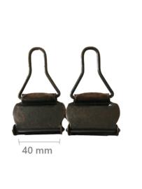 Tuinbroek gesp rood koper 40 mm 2 stuks