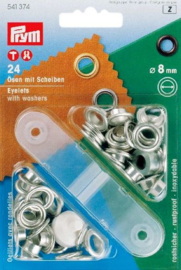 Zeil ogen set  8 mm - nickel
