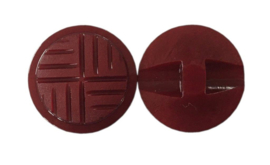 Knoop kunststof bordeaux 17 mm